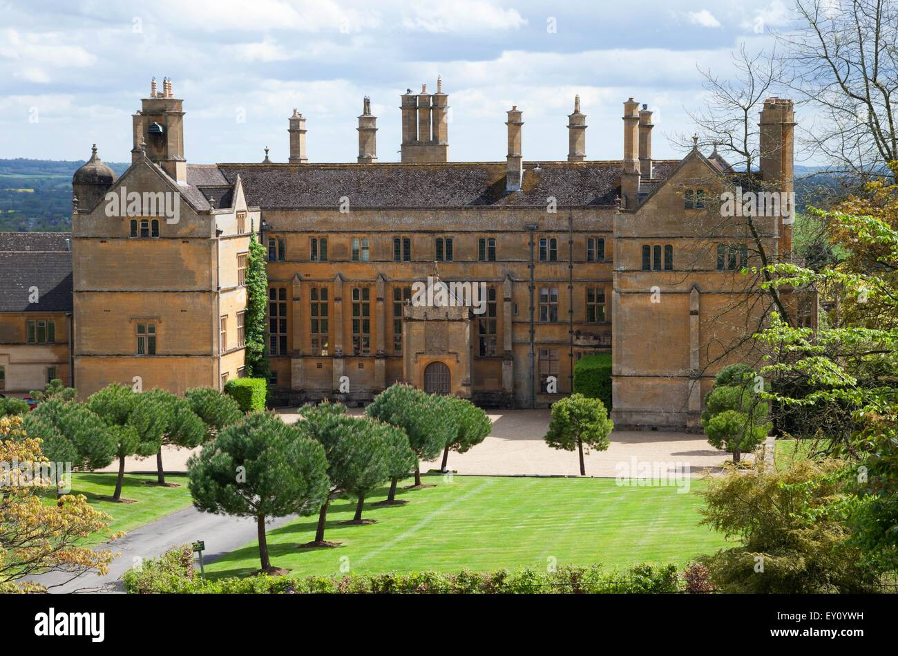 Cotswold stately home in Batsford near Moreton-in-Marsh, Gloucestershire, England. - Stock Image