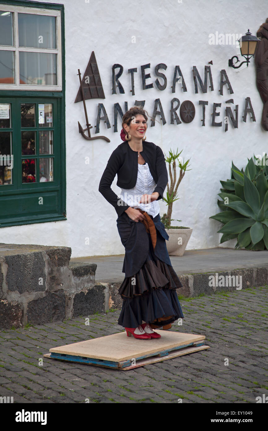 Flamenco dancer at Teguise - Stock Image