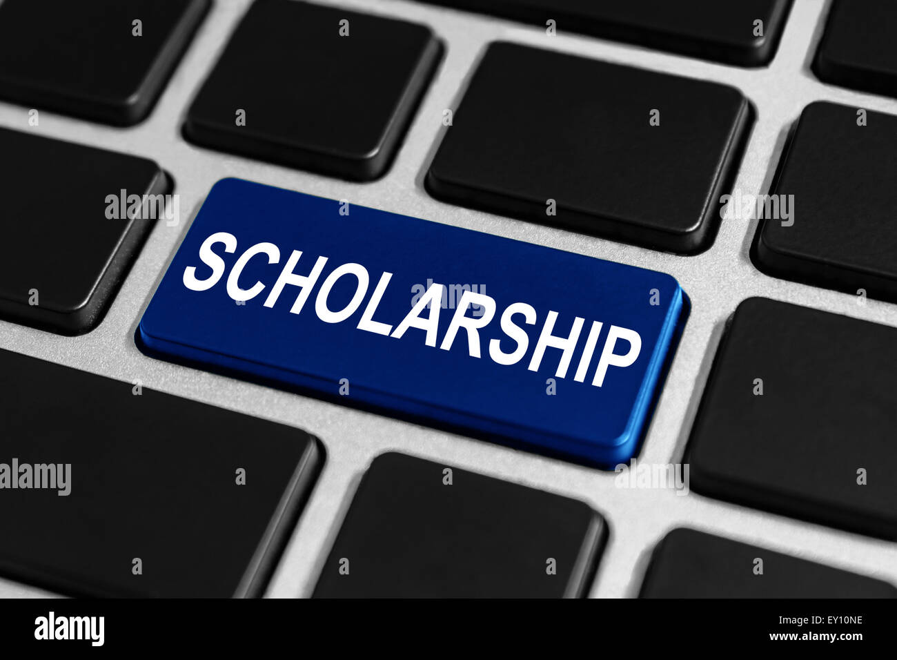 scholarship button on keyboard, education concept - Stock Image