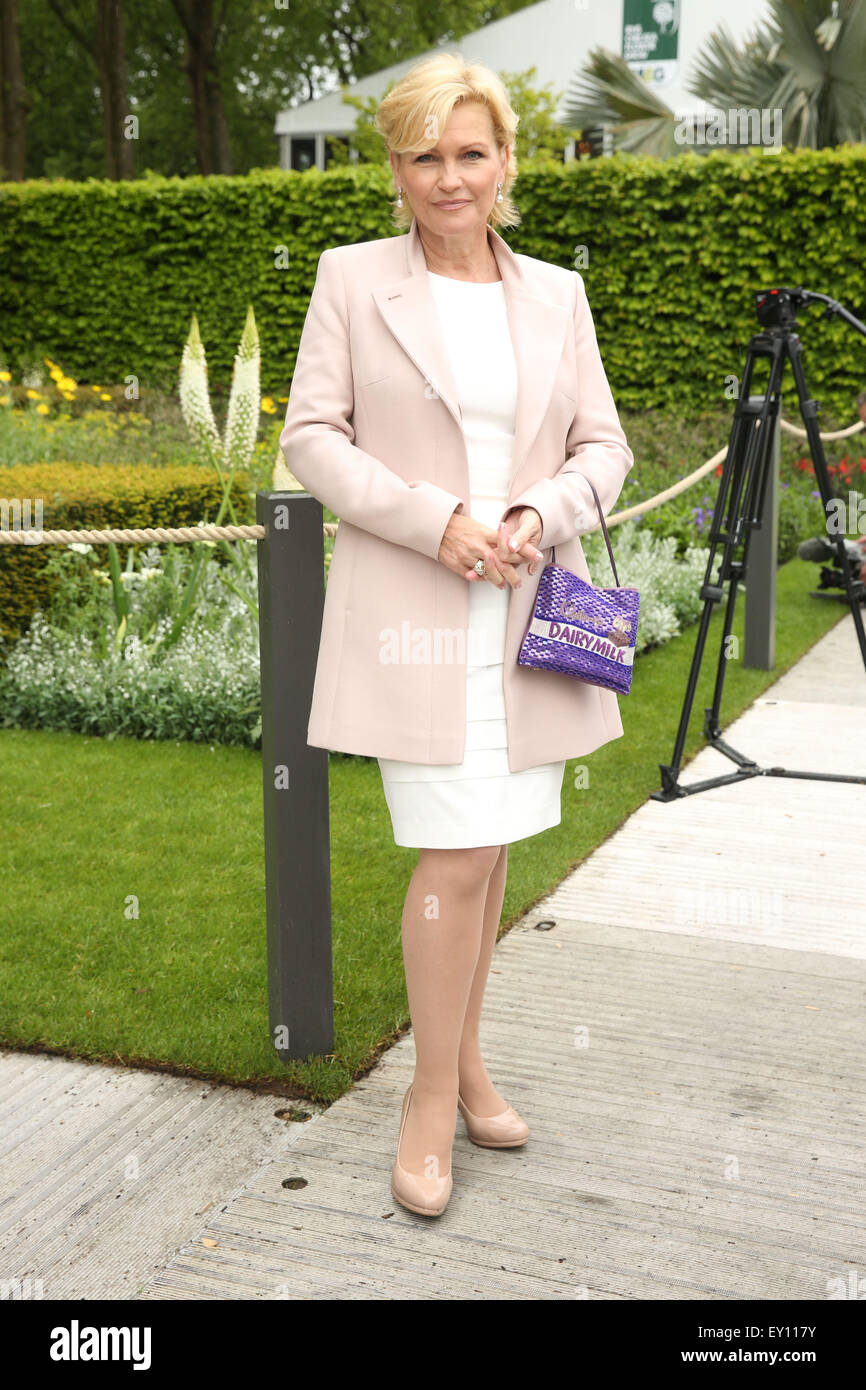 The Chelsea Flower Show 2015  Featuring: Fiona Fullerton Where: London, United Kingdom When: 18 May 2015 Stock Photo