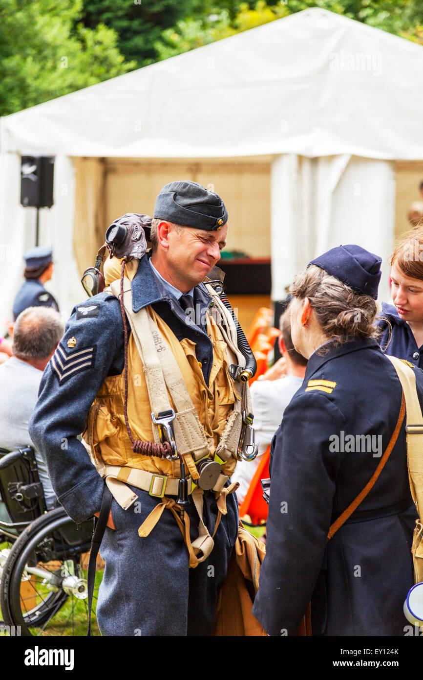 Woodhall Spa, Lincolnshire, UK. 19th July, 2015. 1940's Weekend at Woodhall Spa Lincolnshire UK England on 19/07/2015 Stock Photo