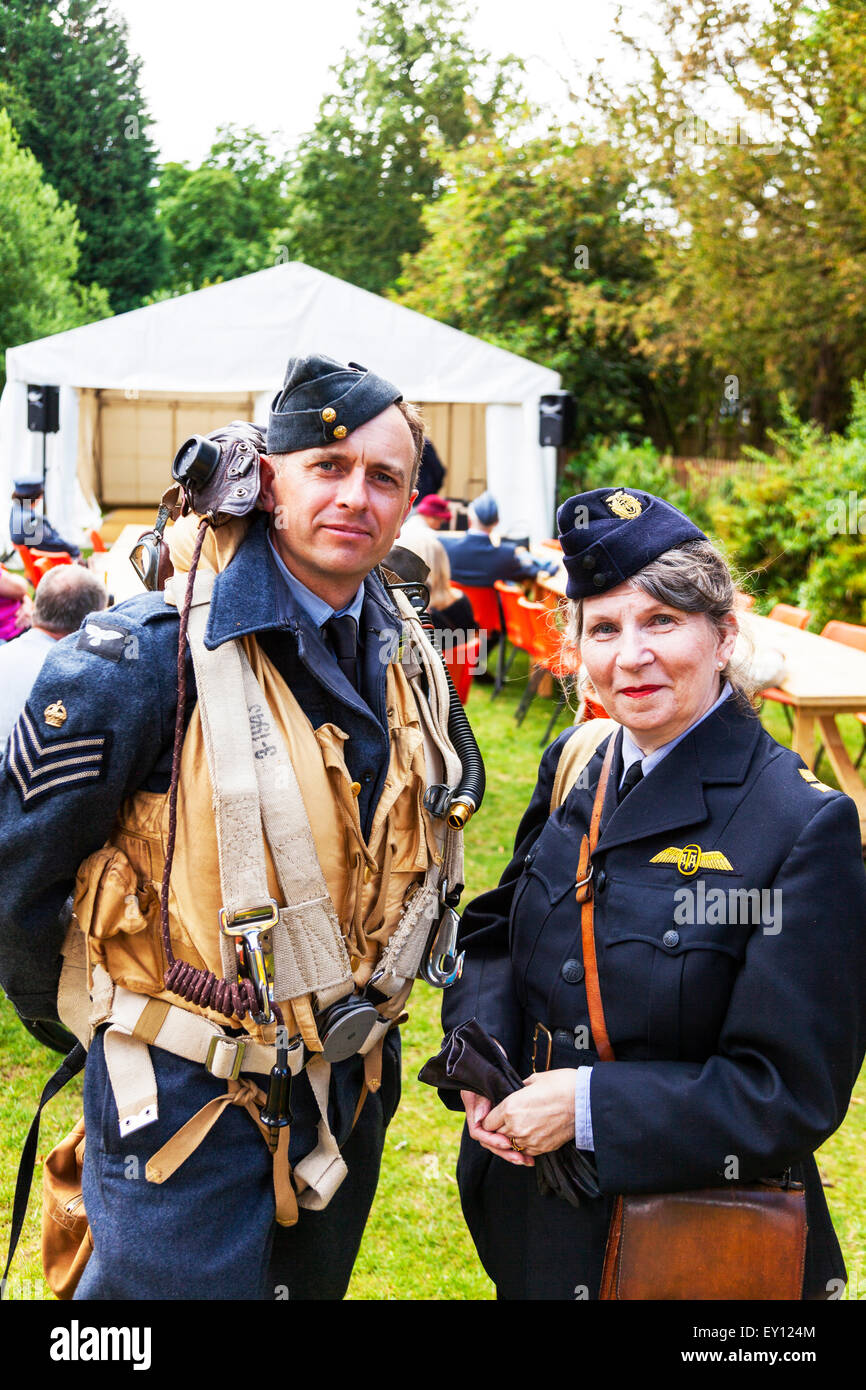 Woodhall Spa, Lincolnshire, UK. 19th July, 2015. 1940's Weekend  Female ATA Air Transport Auxiliary (ATA) was - Stock Image