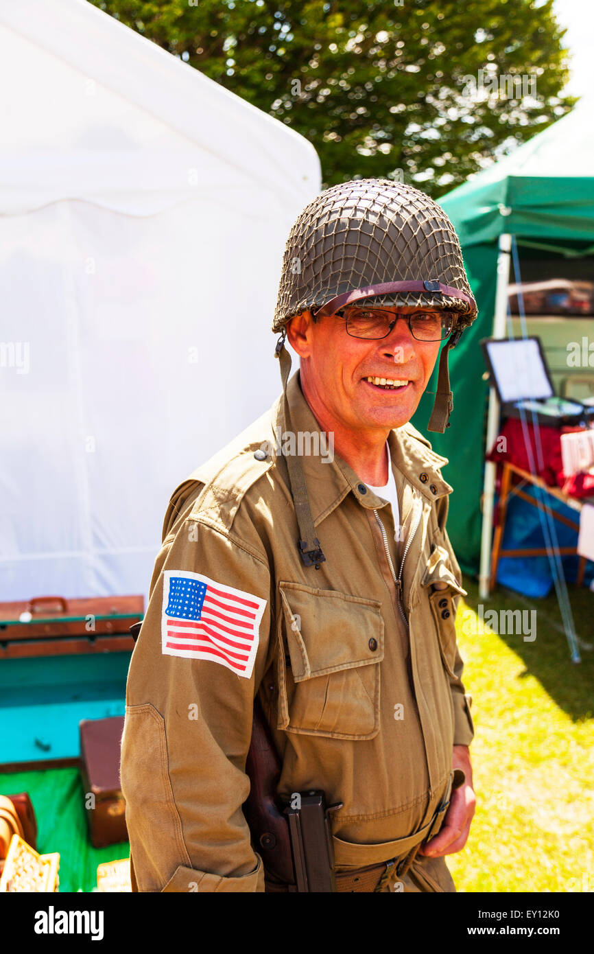 Woodhall Spa, Lincolnshire, UK. 19th July, 2015. 1940's Weekend at Woodhall Spa Lincolnshire UK England on 19/07/2015 - Stock Image