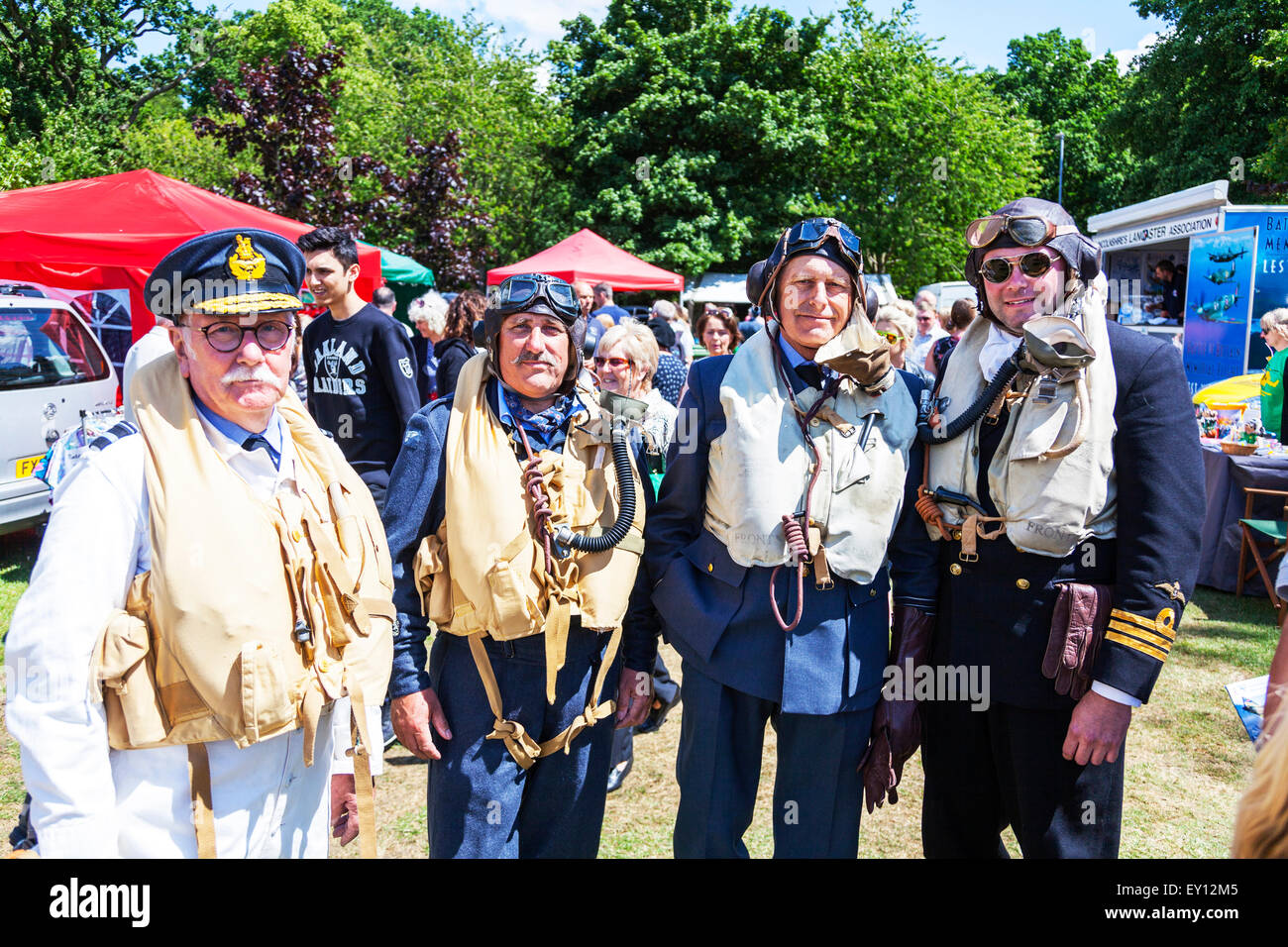 Woodhall Spa, Lincolnshire, UK. 19th July, 2015. 1940's Weekend  World War II the U.S. aviators and the Royal - Stock Image