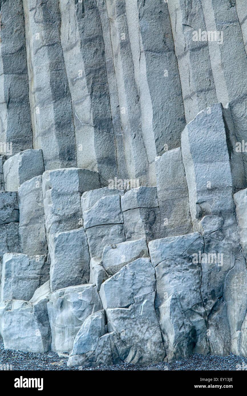 Reynishverfisvegur Iceland Basaltic Columns - Stock Image