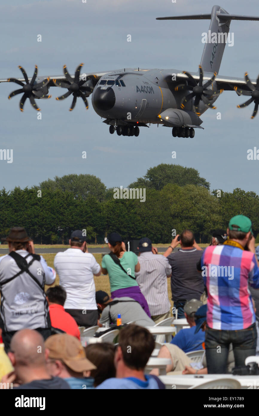 Airbus A400M Atlas displaying at an airshow - Stock Image