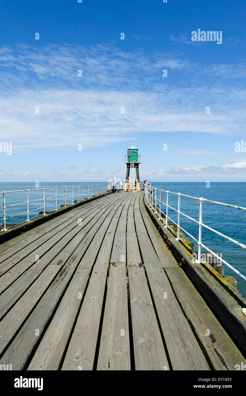 Whitby West Pier Extension - Stock Image
