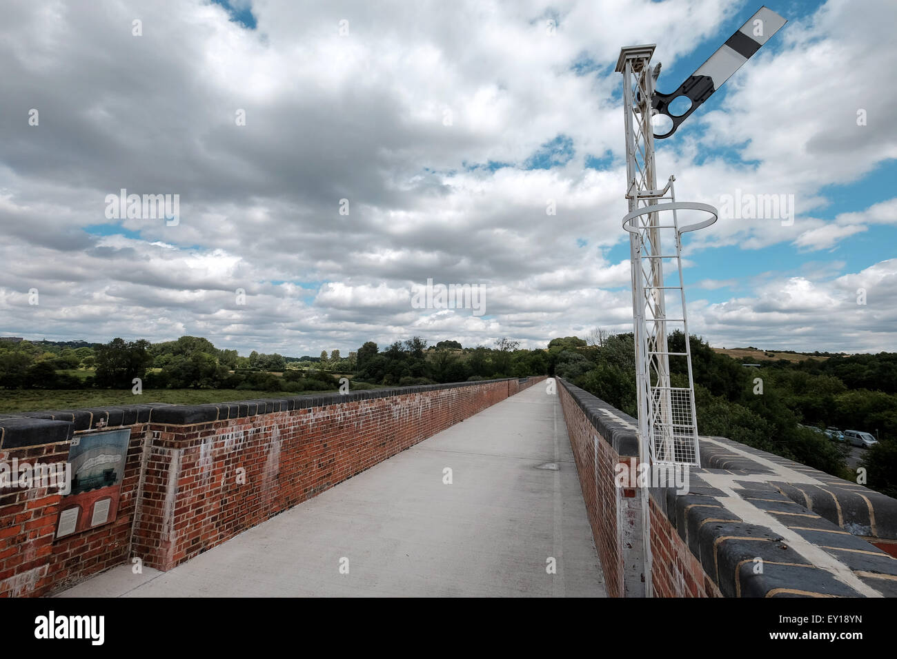 Viaduct Way footpath and cycle path along the restored Hockley Viaduct in Winchester - Stock Image