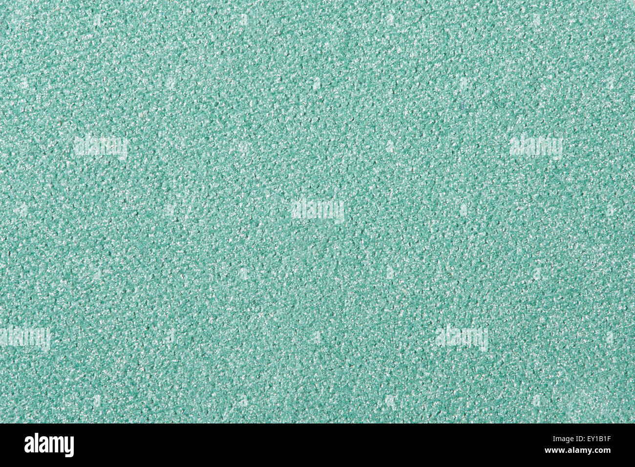 Green eye shadow cosmetic texture background - Stock Image