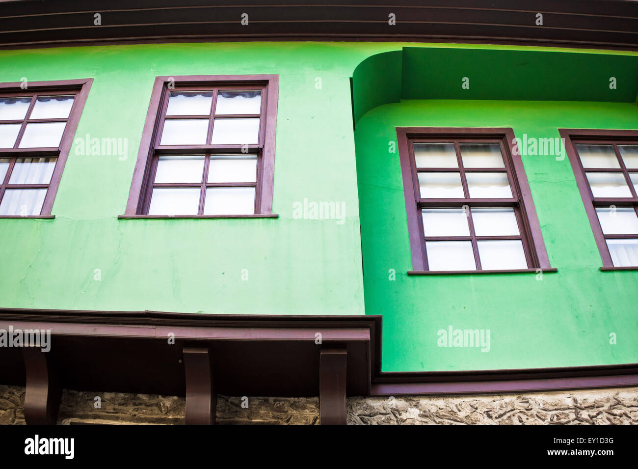 Renovated traditional Ottoman houses in Turkey Stock Photo