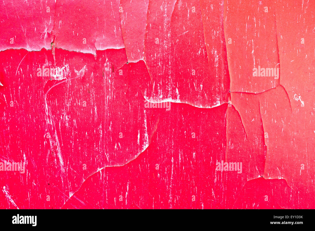 A cracked red wooden surface as a background Stock Photo