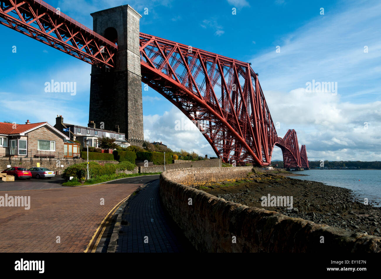 The Forth Rail Bridge, over the Firth of Forth, from North Queensferry, near Edinburgh, Scotland, UK Stock Photo