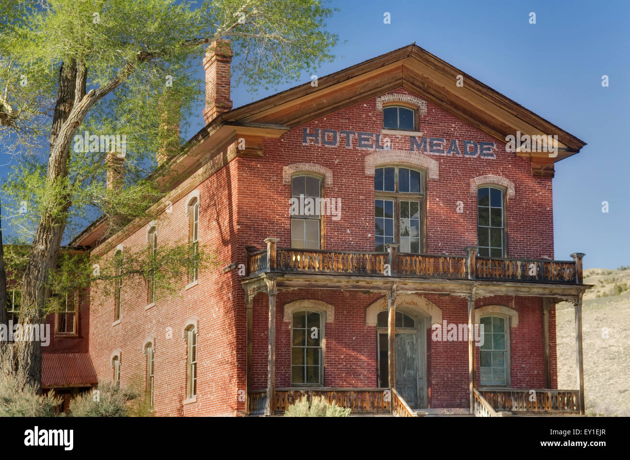 Historic Hotel Meade in Bannack State Park Montana - Stock Image
