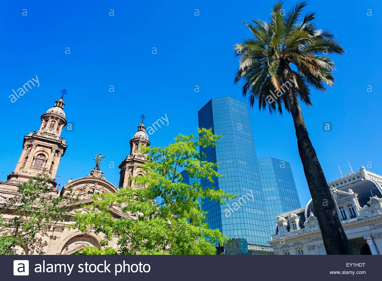 Metropolitan Cathedral, Santiago, Chile, South America - Stock Image