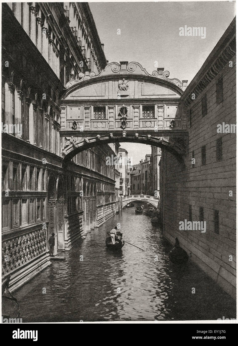Bridge of Sighs, Venice, Italy, circa 1910 - Stock Image
