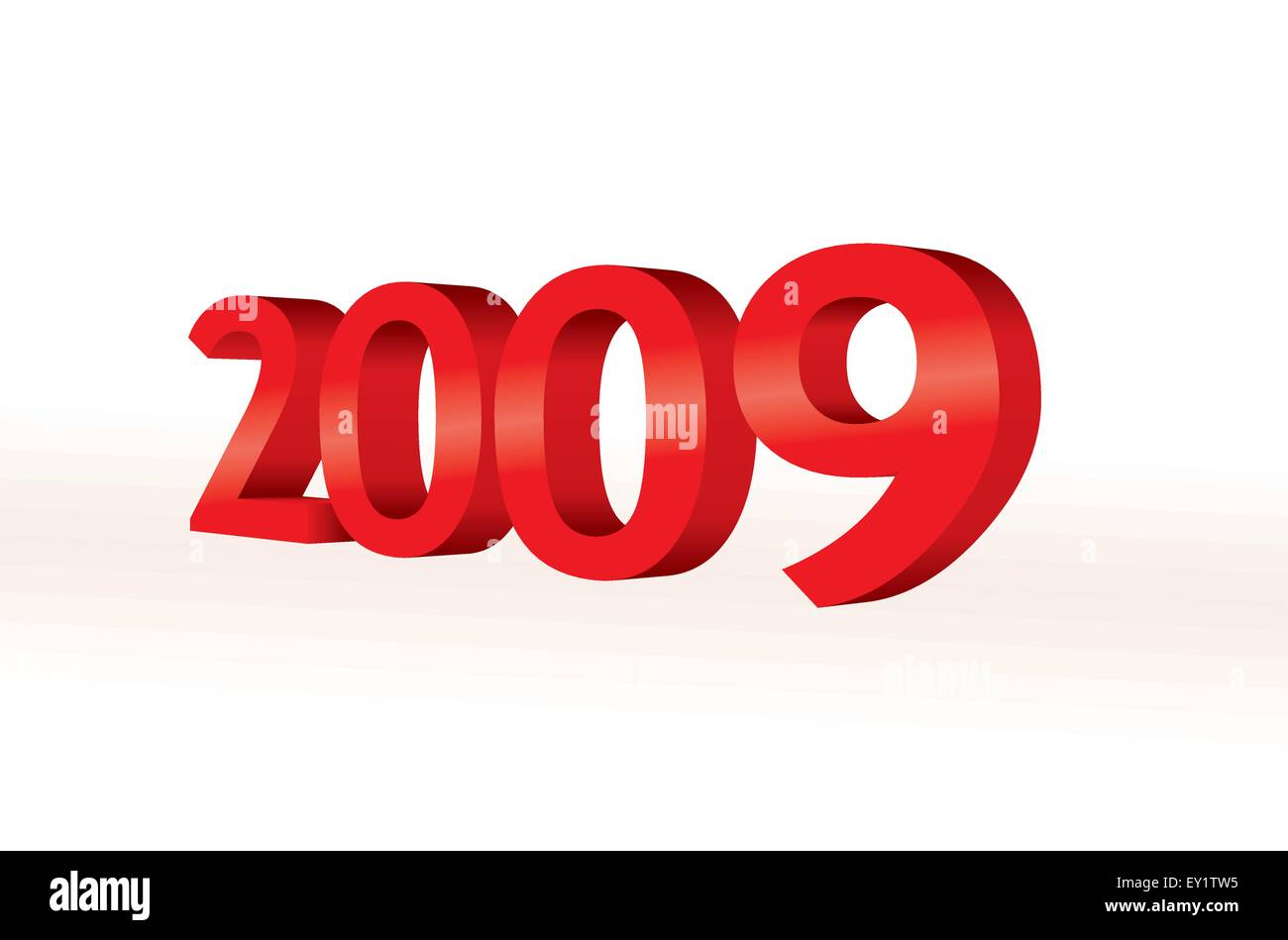 3d 2009 - new year concept - Stock Vector