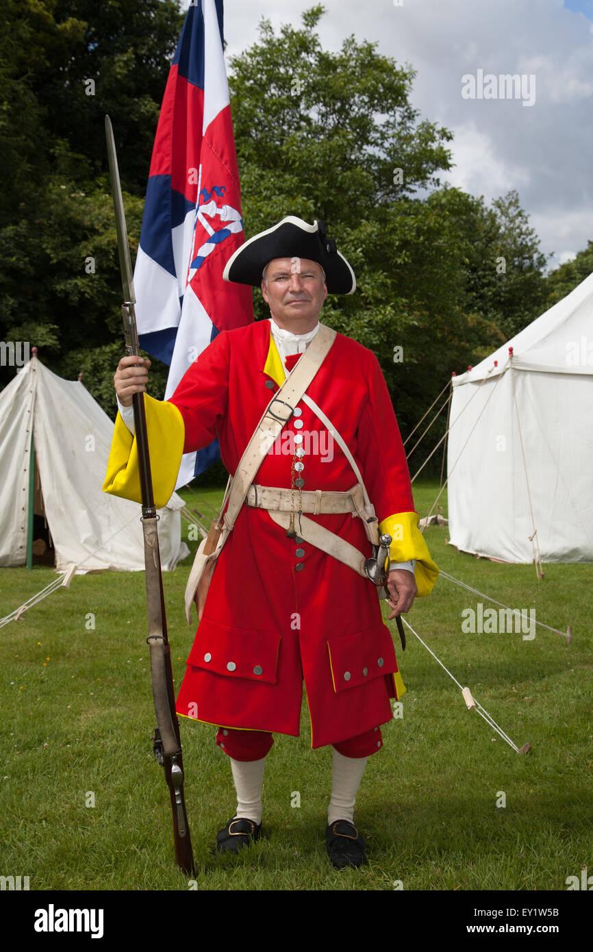 Hoghton Towers, Chorley, Lancashire, UK. 19th July, 2015.   The Battle of Preston – the last battle on English soil. Stock Photo