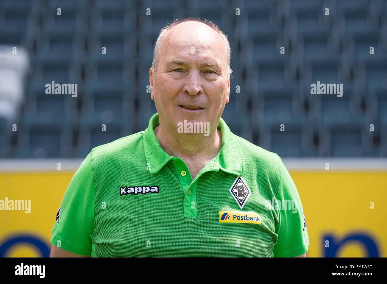 German Soccer Bundesliga 2015/16 - Photocall Borussia Moenchengladbach on 10 July 2015 in Moenchengladbach, Germany: - Stock Image