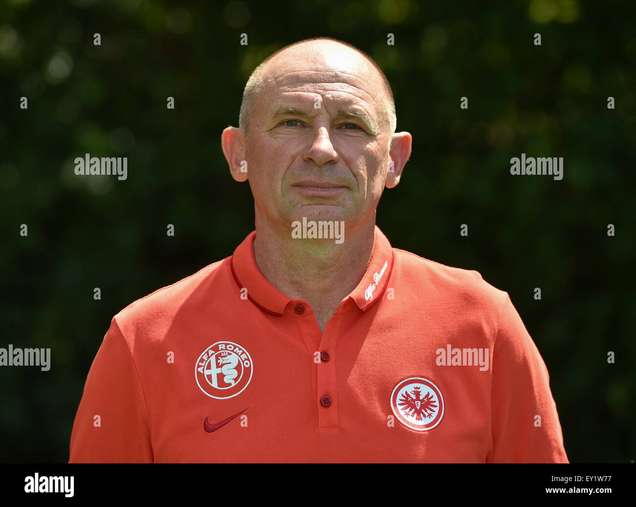 German Soccer Bundesliga 2015/16 - Photocall Eintracht Frankfurt on 15 July 2015 in Frankfurt, Germany: Kitman Igor - Stock Image