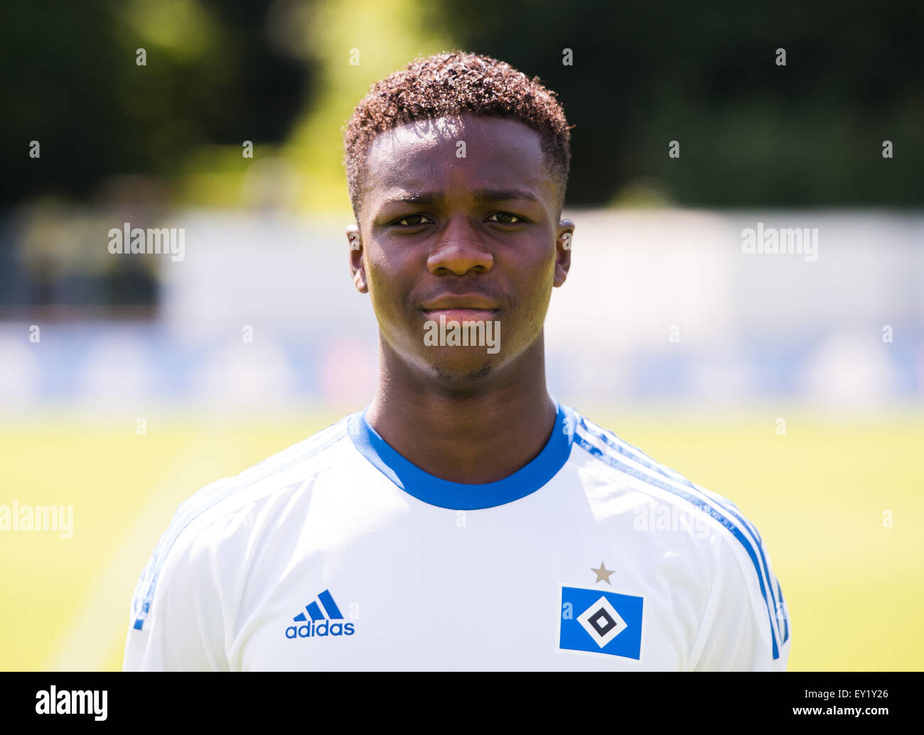 German Soccer Bundesliga 2015/16 - Photocall of Hamburger SV on 15 July 2015 in Hamburg, Germany: Gideon Jung - Stock Image