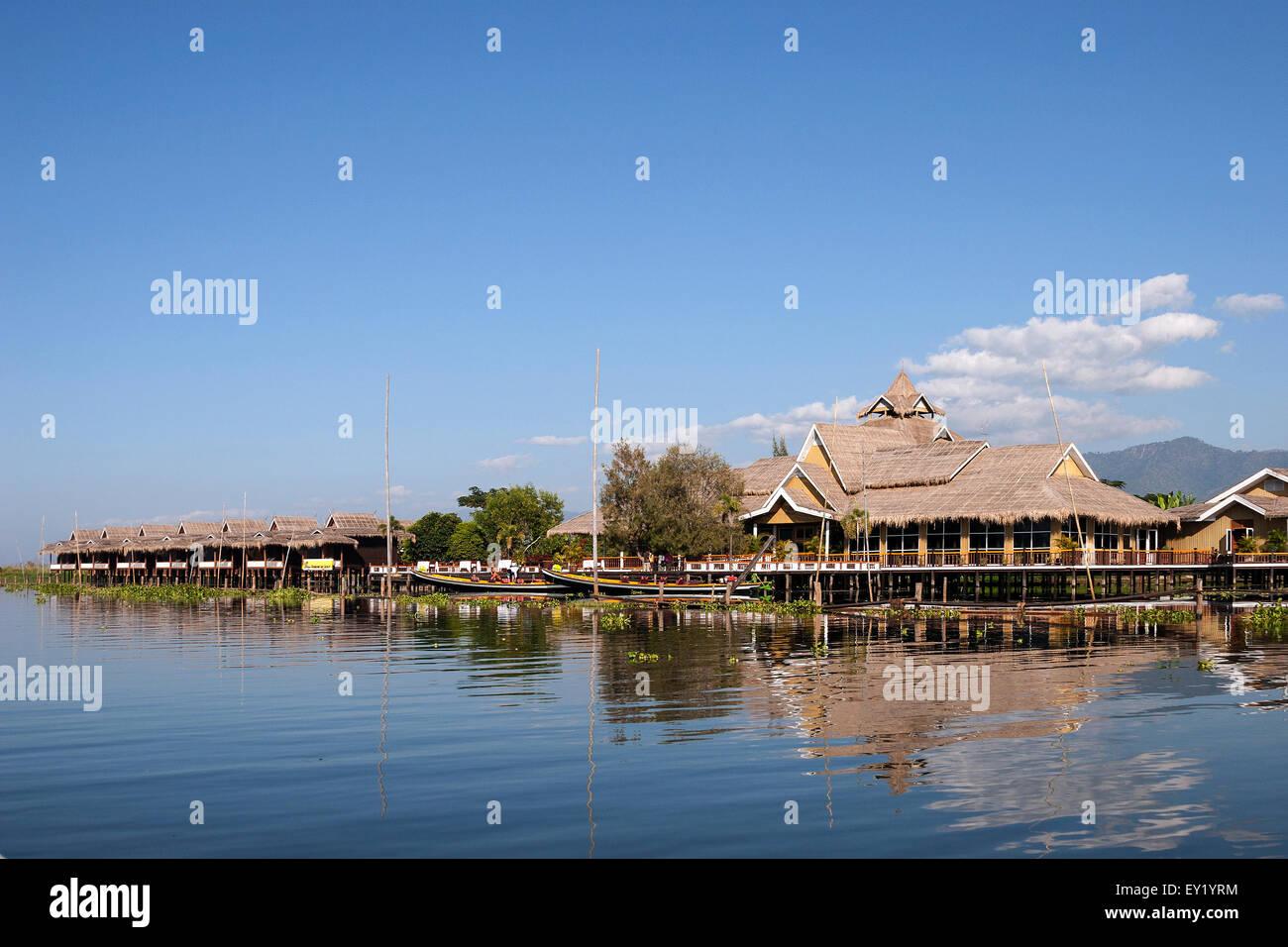 Hotel Paramount Inle Resort, Inle Lake, near Ywa-ma, Shan State, Myanmar - Stock Image