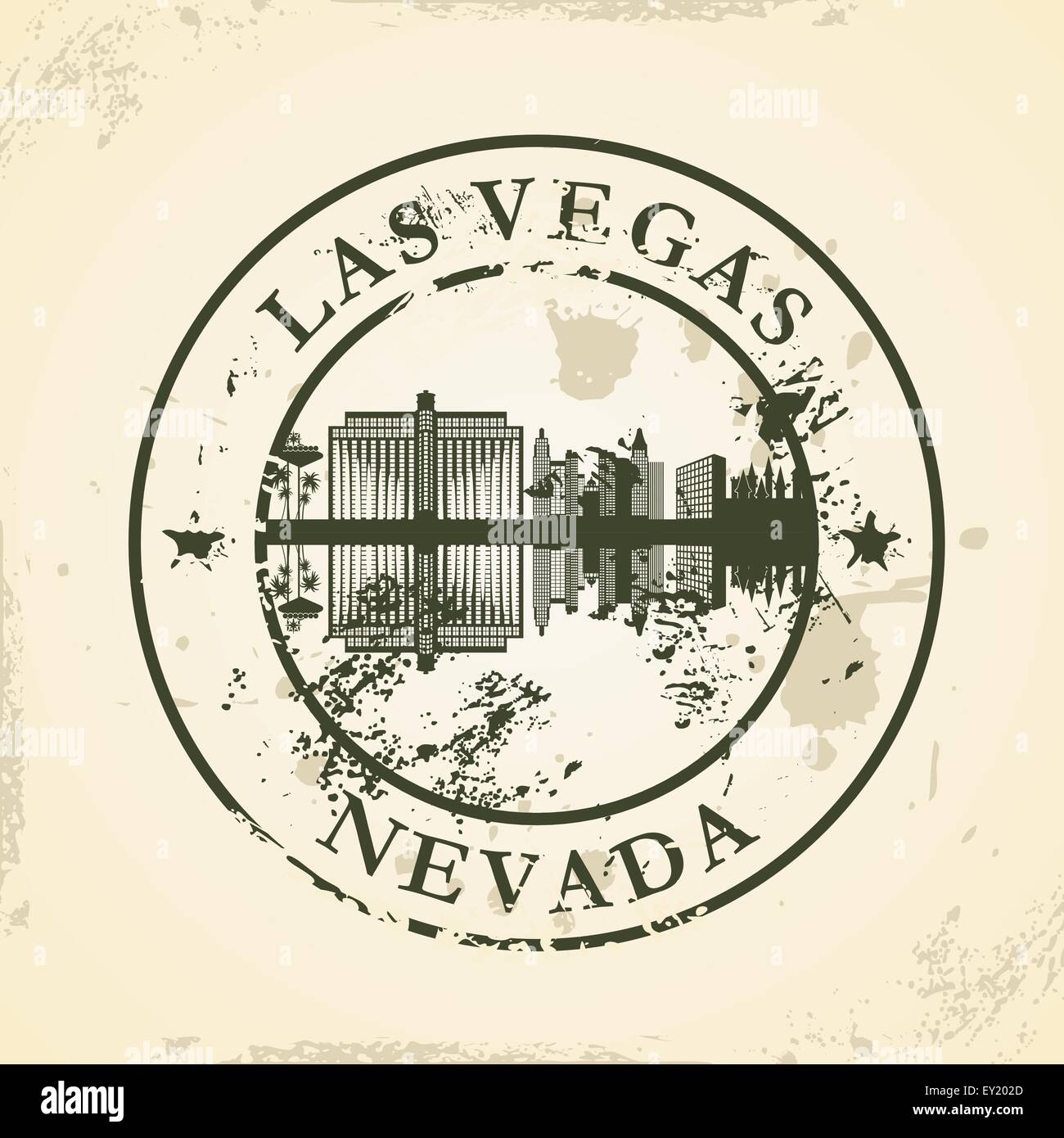 Grunge rubber stamp with Las Vegas, Nevada - vector illustration - Stock Vector