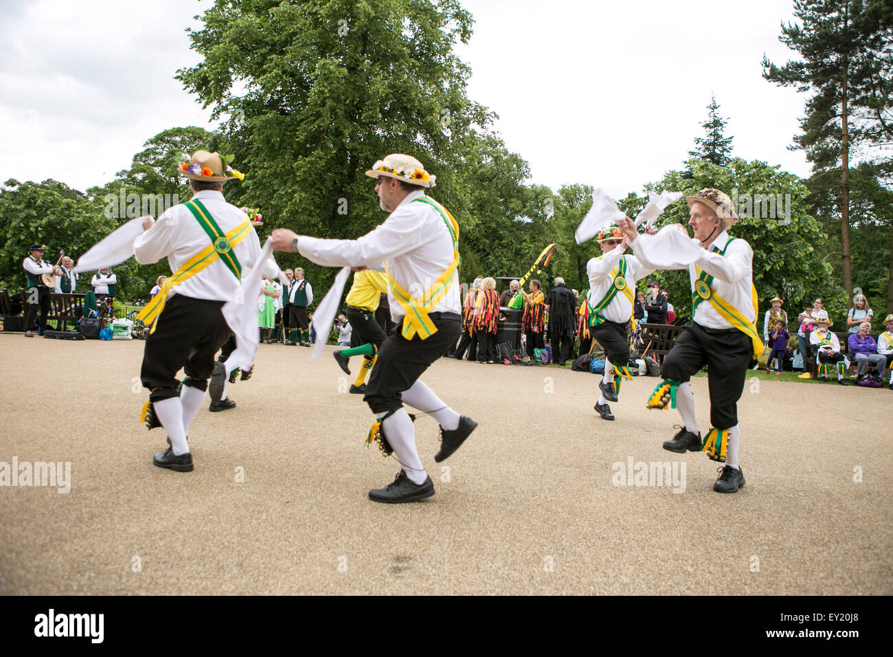 Buxton Day of Dance hosted by Chapel-en-le-Frith Morris Men. A feast of traditional dancing from around the country. - Stock Image