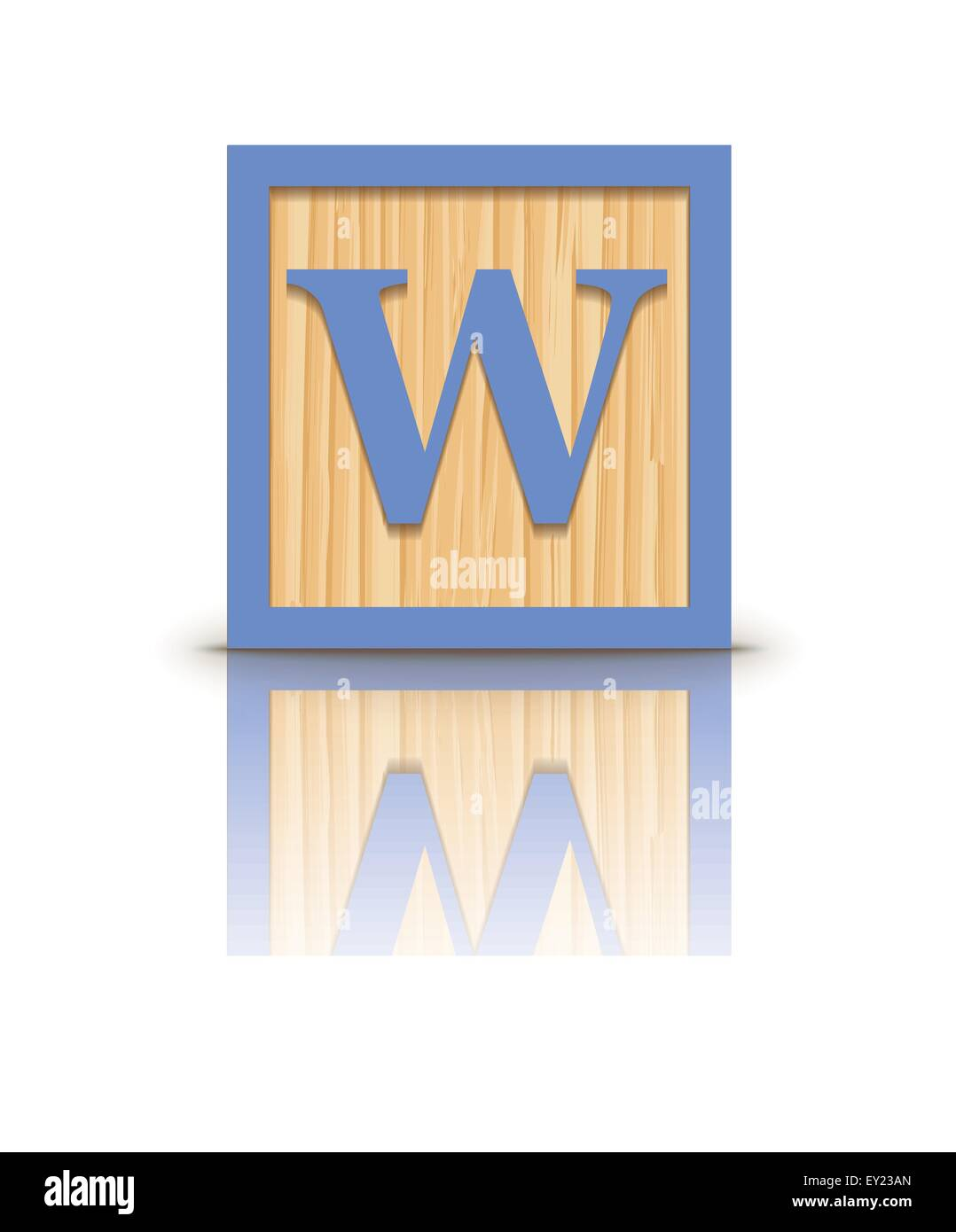 Letter Wooden Alphabet Block Vector Stock Photos  Letter Wooden