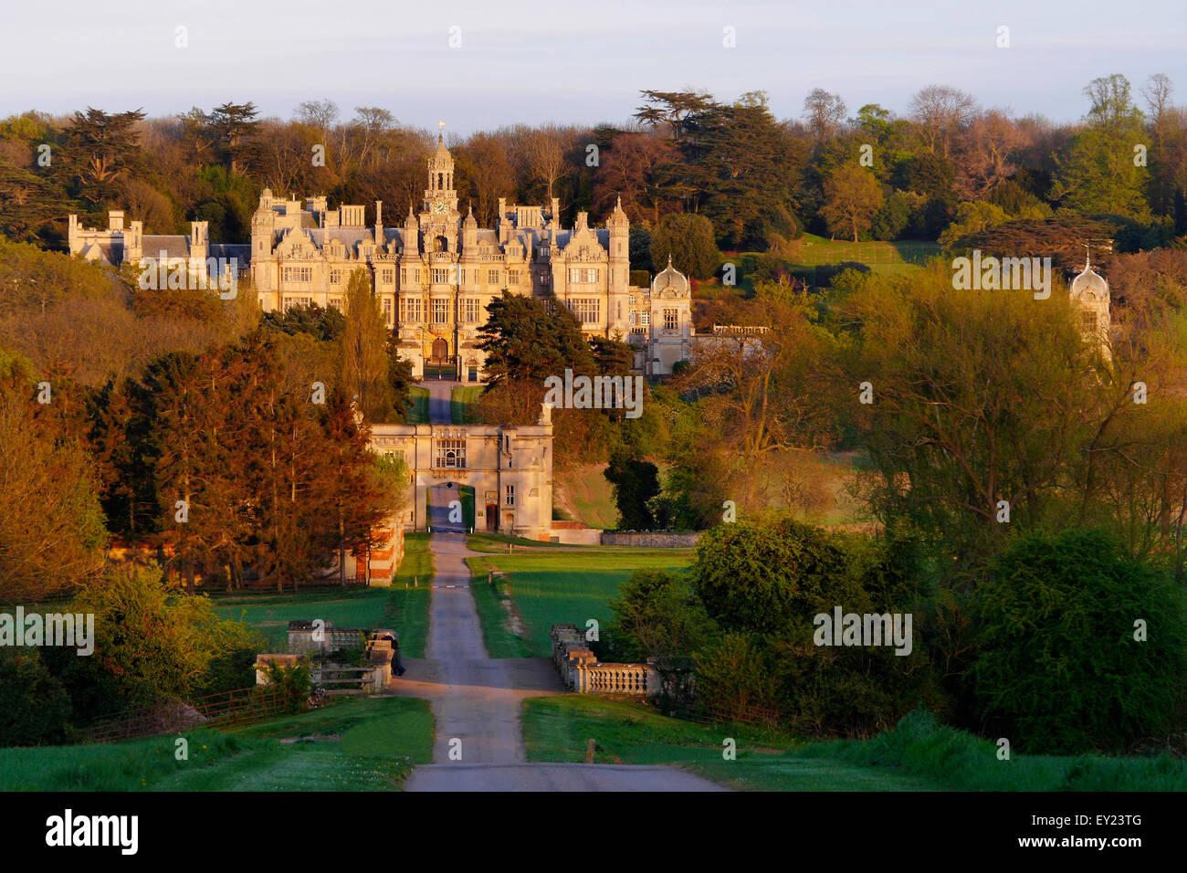 Harlaxton Manor, Grantham, Lincolnshire, England, UK - Stock Image