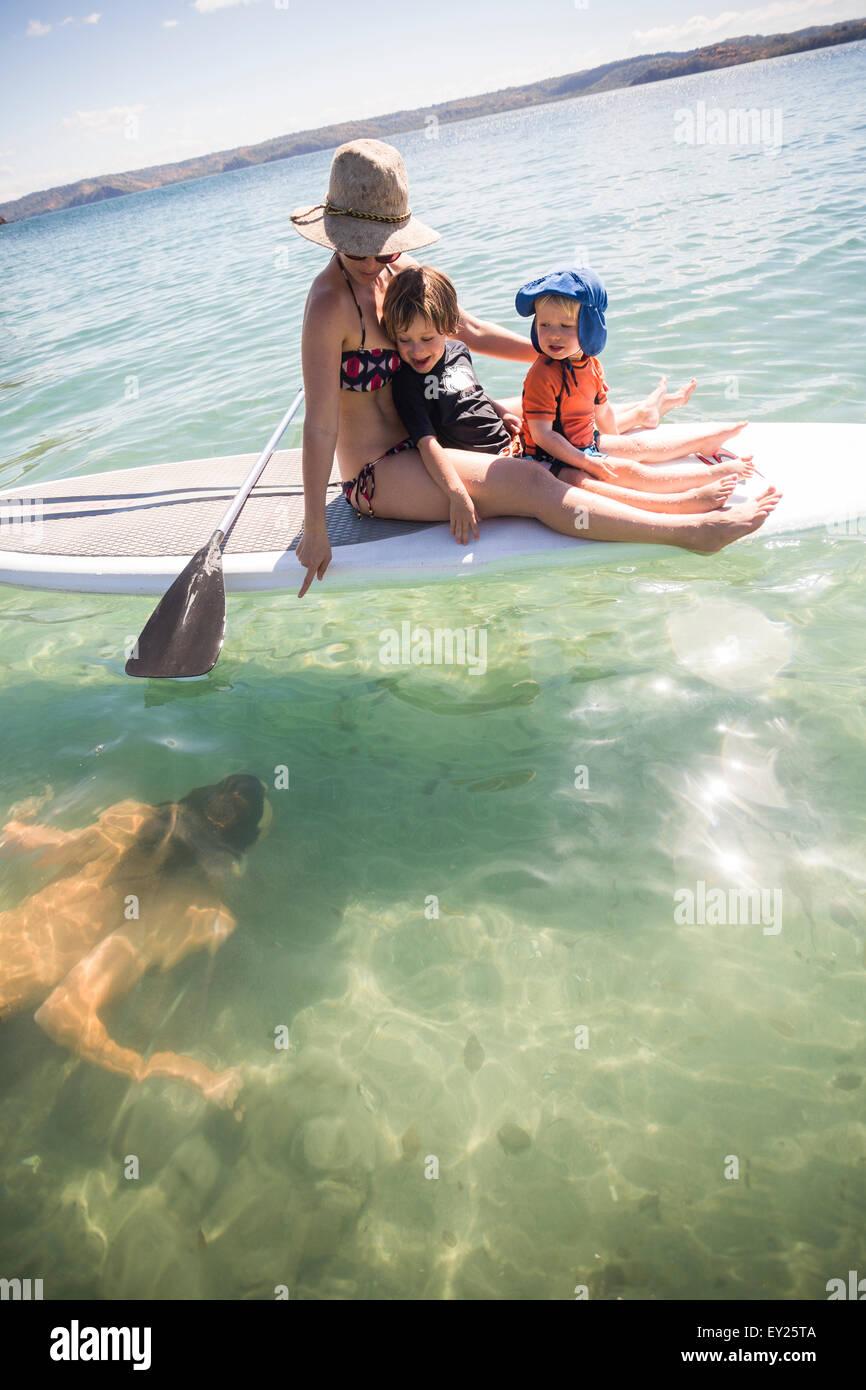 Family holiday, Liberia, Guanacaste, Costa Rica - Stock Image