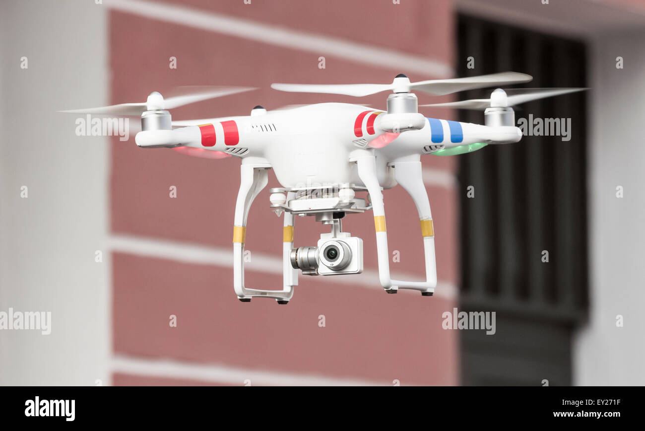 Phantom Drone with camera attached - Stock Image