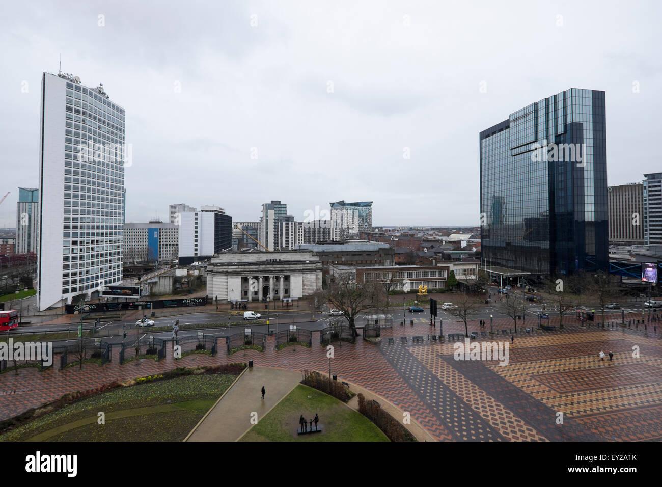 Panoramic view of Birmingham city centre - Stock Image