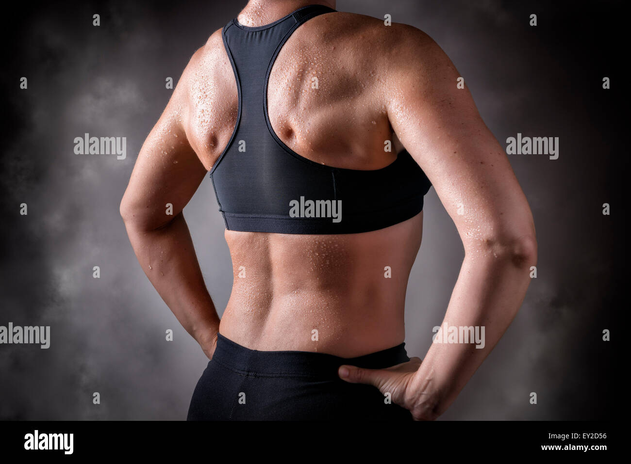Female Back Muscles Stock Photos Female Back Muscles Stock Images