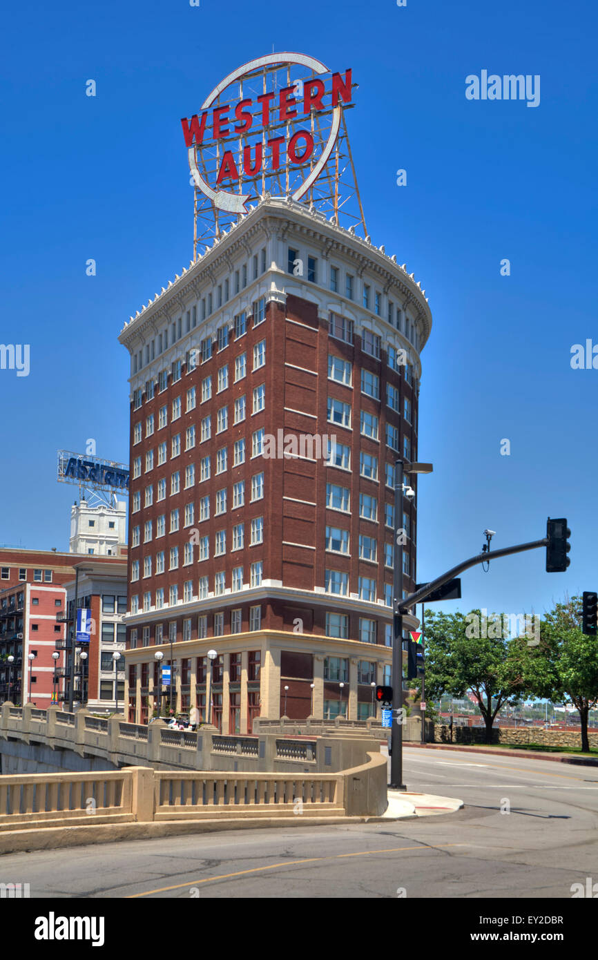Western Auto Building in Kansas City, Missouri - Stock Image