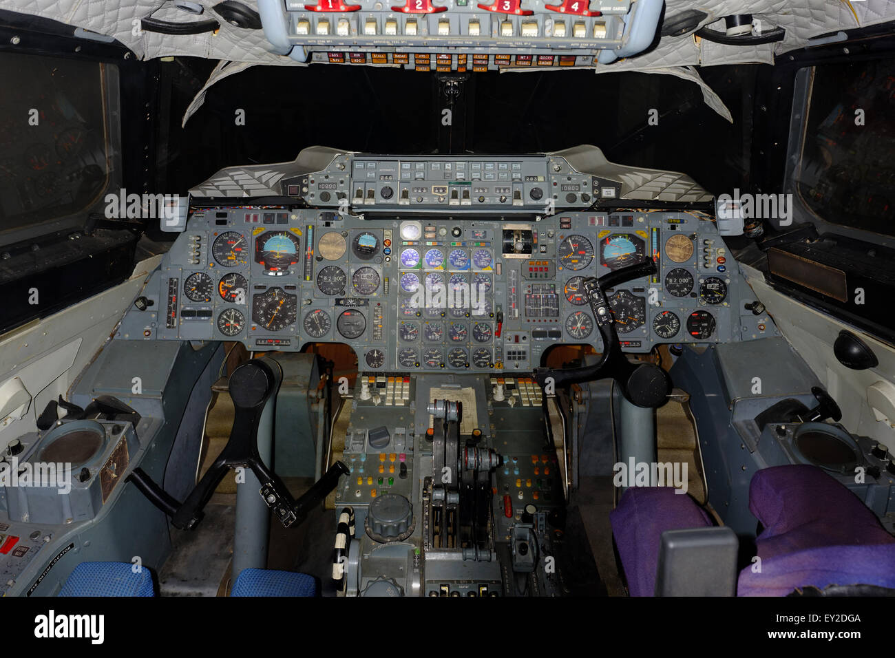 The original cockpit prototype used to help design the world's first supersonic passenger jet. Stock Photo