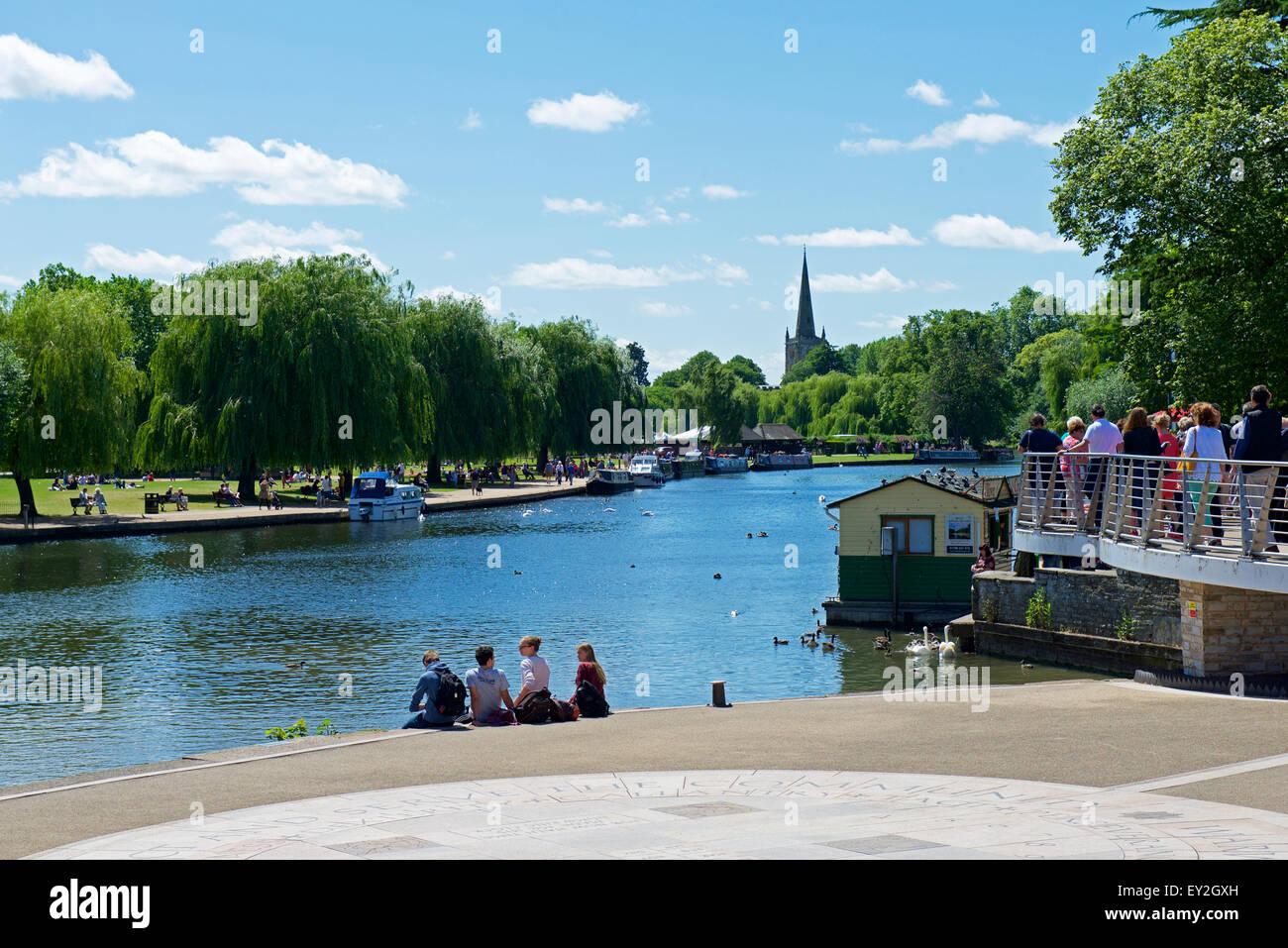 River Avon, Stratford upon Avon, Warwickshire, England UK - Stock Image