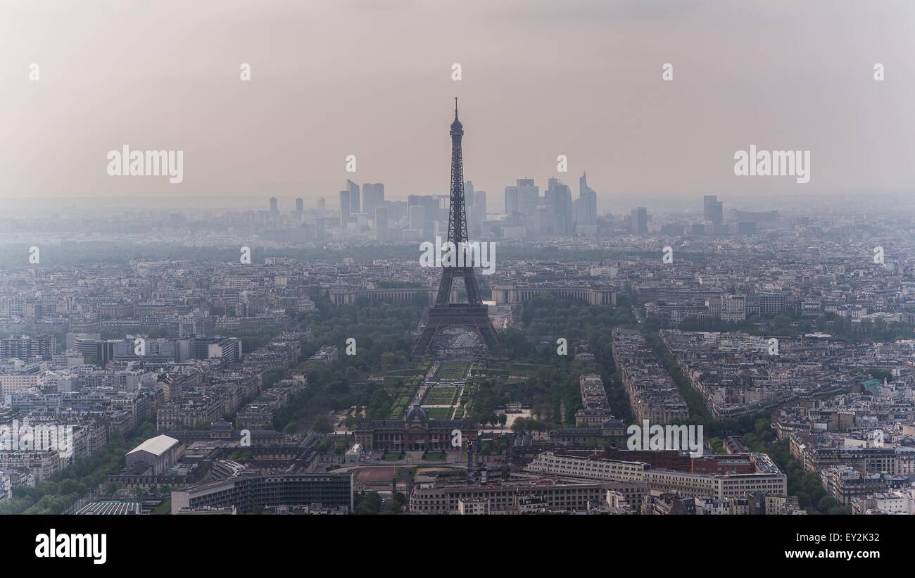 Paris seen from the montparnasse tower Stock Photo