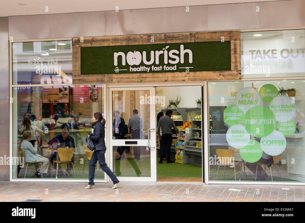The new Nourish Shop in Leeds City Centre - Stock Image