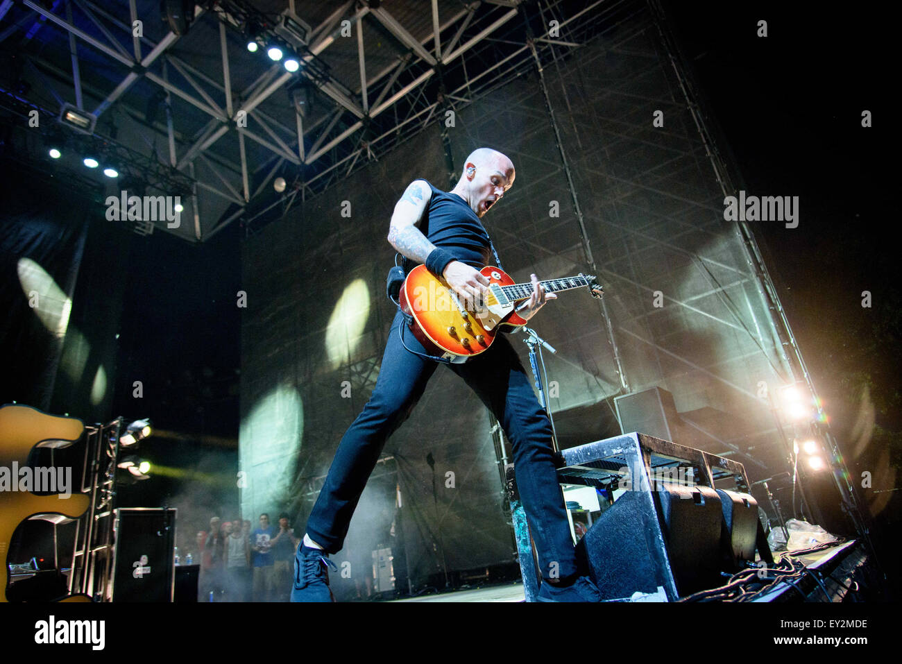 Toronto, Ontario, Canada. 19th July, 2015. American melodic hardcore band from Chicago, Illinois, Rise Against performed - Stock Image