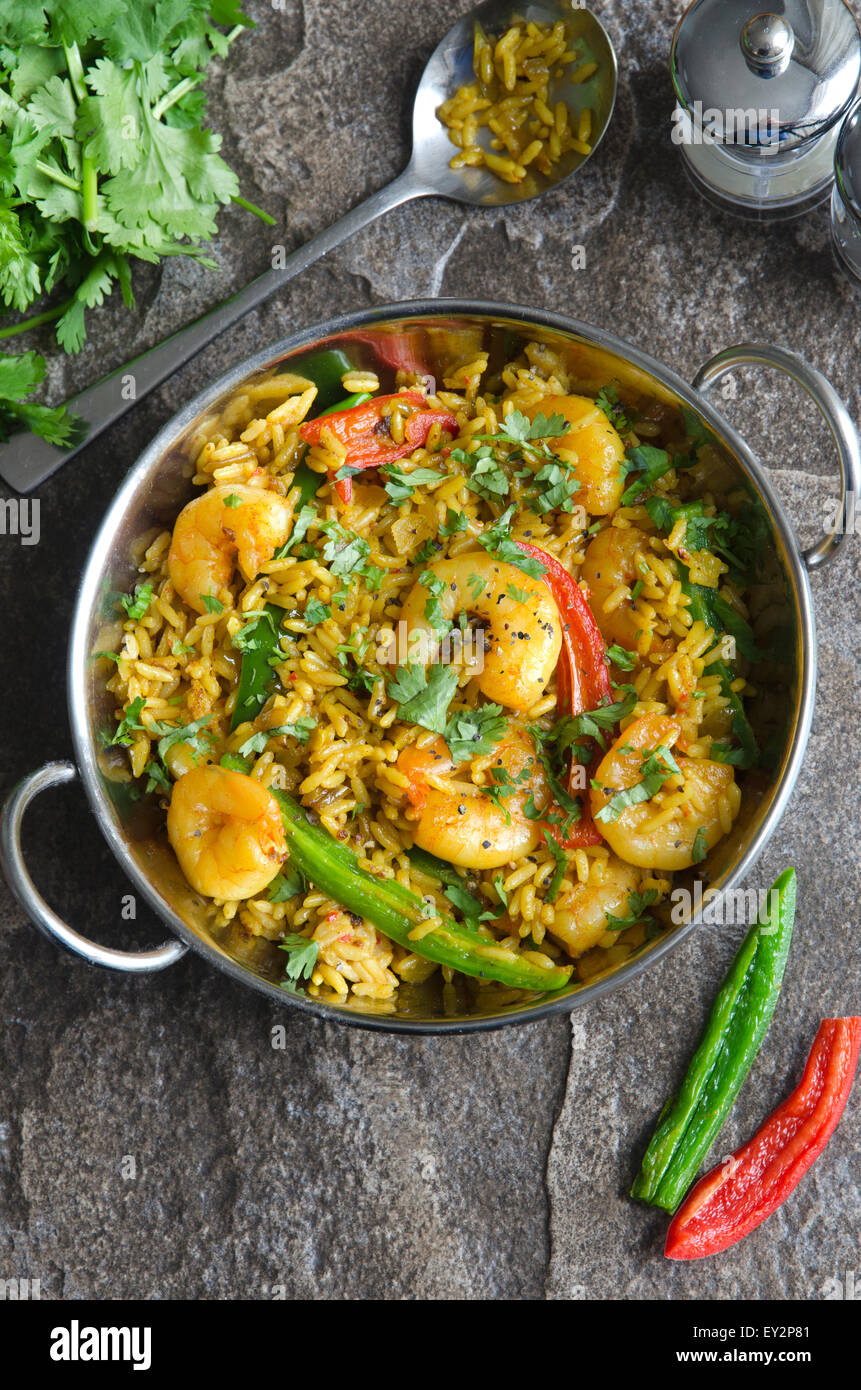 Indian prawn curry - Stock Image
