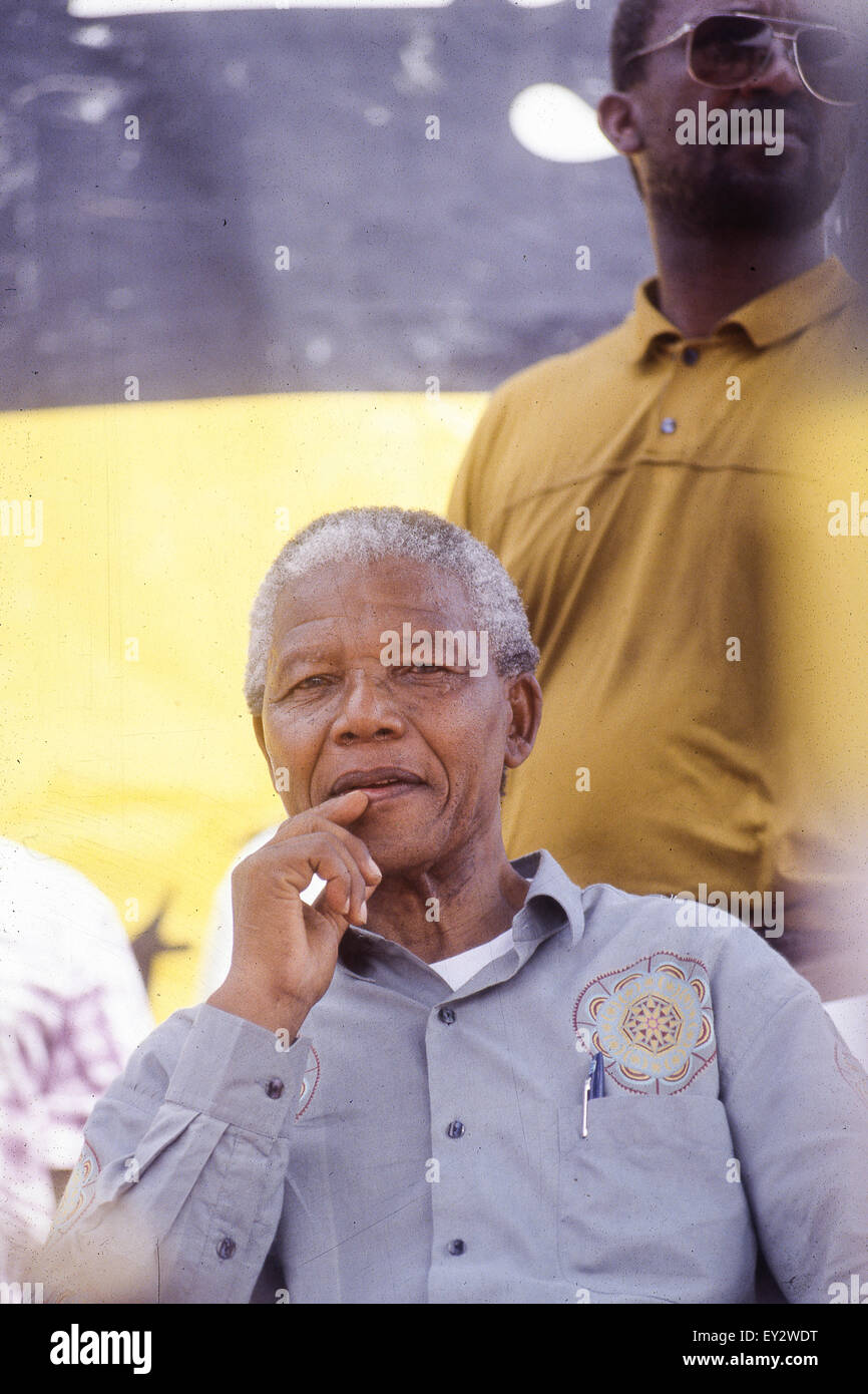 Kwazulu Natal, Southafrica, April 1994 - Nelson Mandela in an Electoral rally - Stock Image