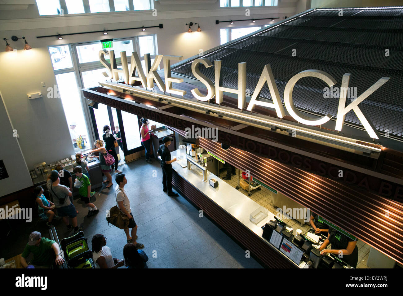 A Shake Shack Fast Casual Restaurant In Downtown Washington