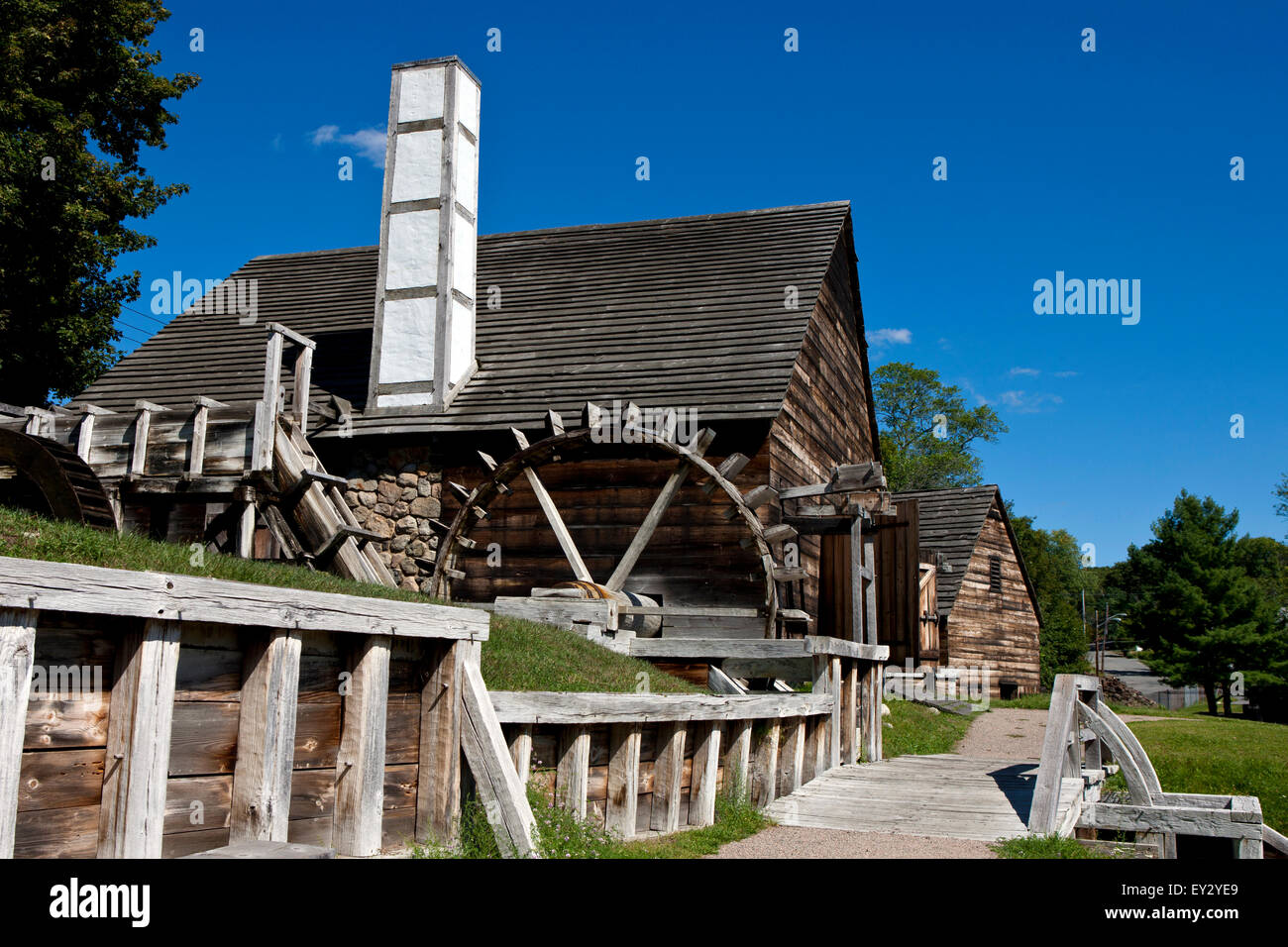 Forge building and Silting Mill building with Stock Photo