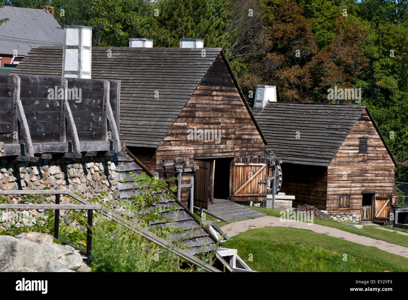 Forge building and Silting Mill building at Stock Photo