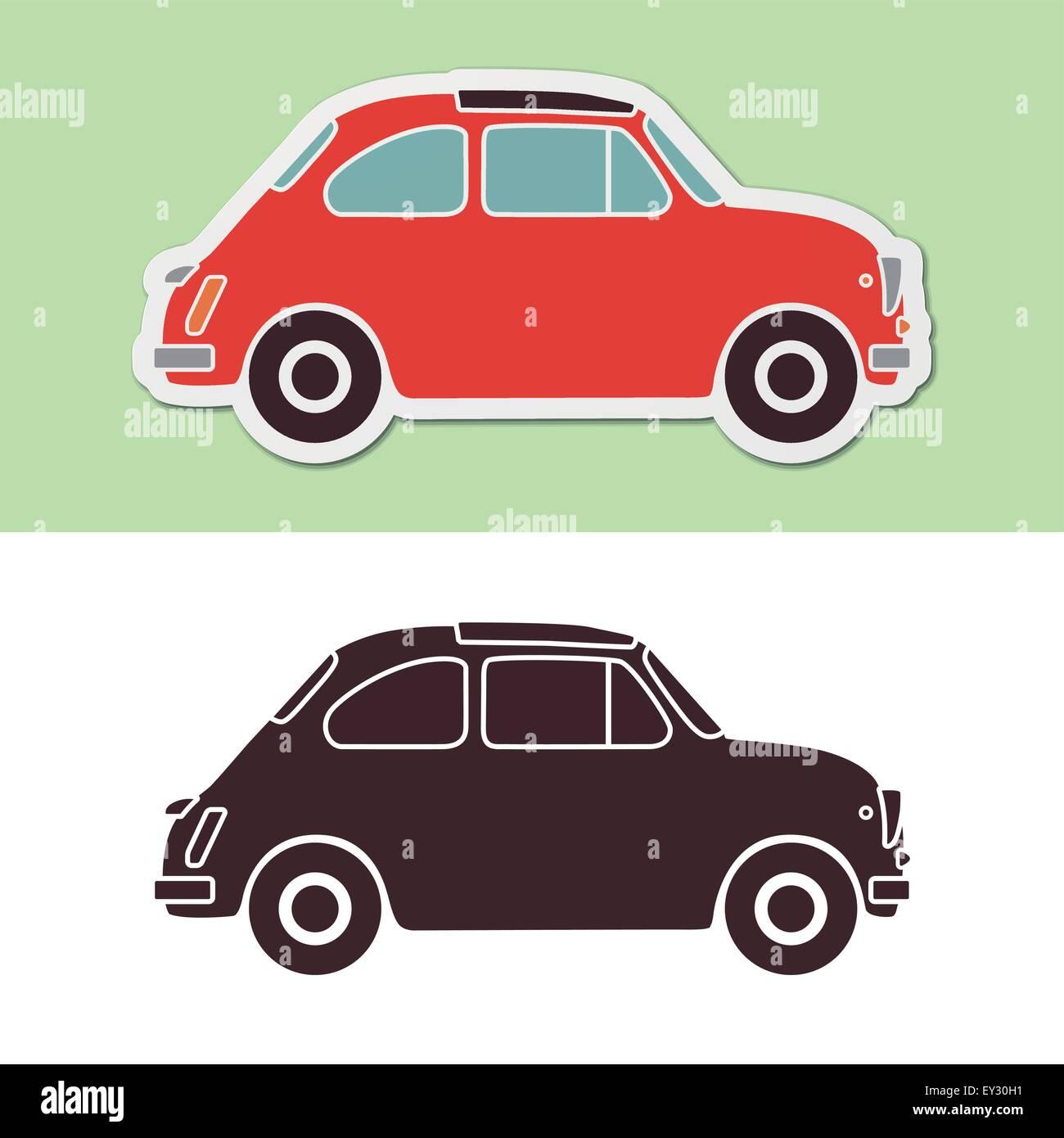 Old fashion Italian car - Stock Image