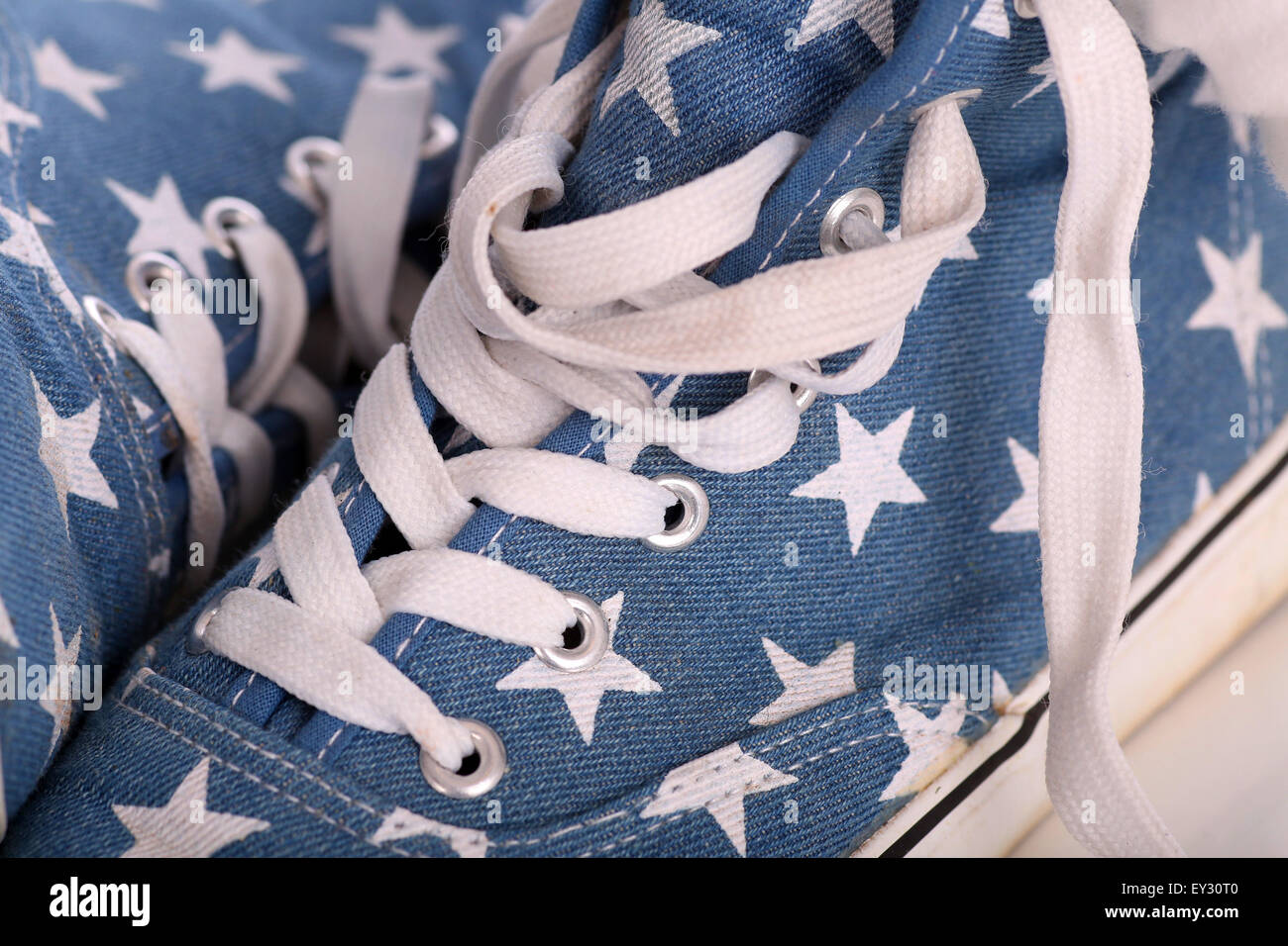 Fancy blue fake converse shoes or