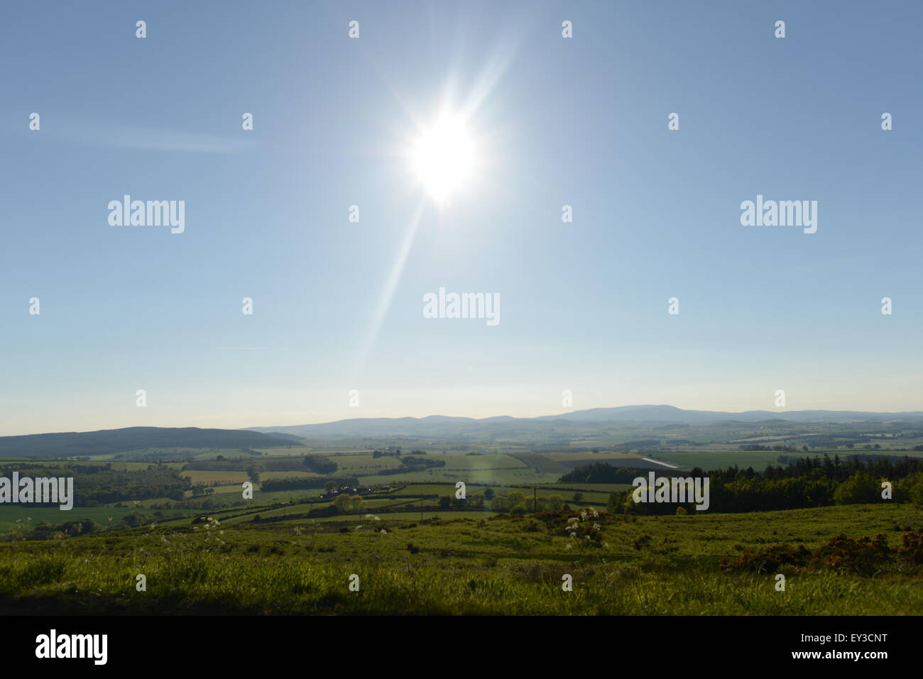 kielder, alnwick, drive, view border country - Stock Image