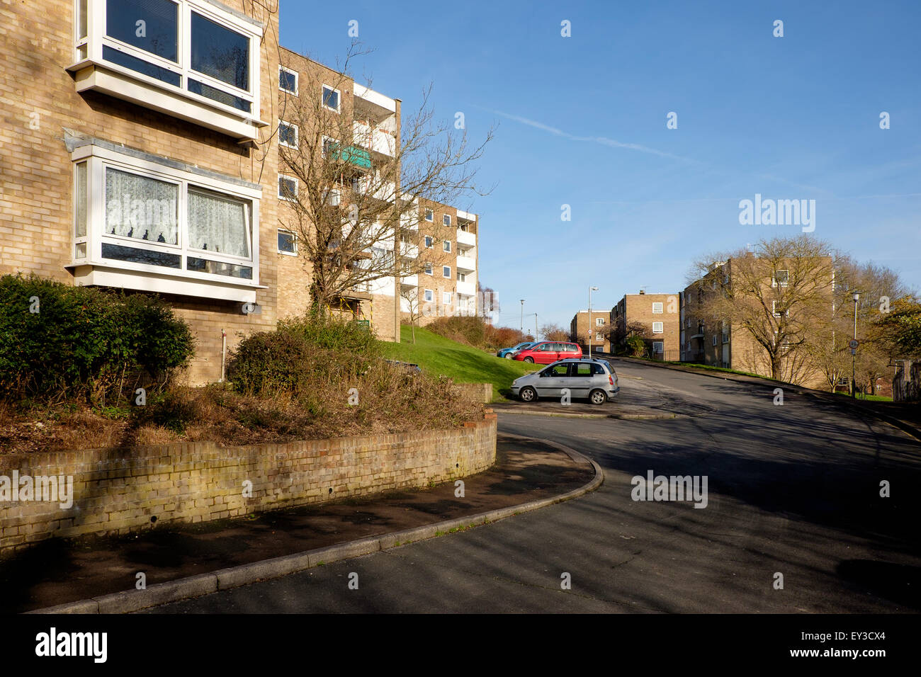 The Bates Estate, a local authority housing estate at Moulsecoomb, Brighton - Stock Image