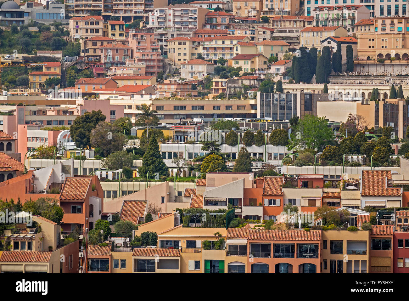 Very High density Housing Monte Carlo Monaco - Stock Image