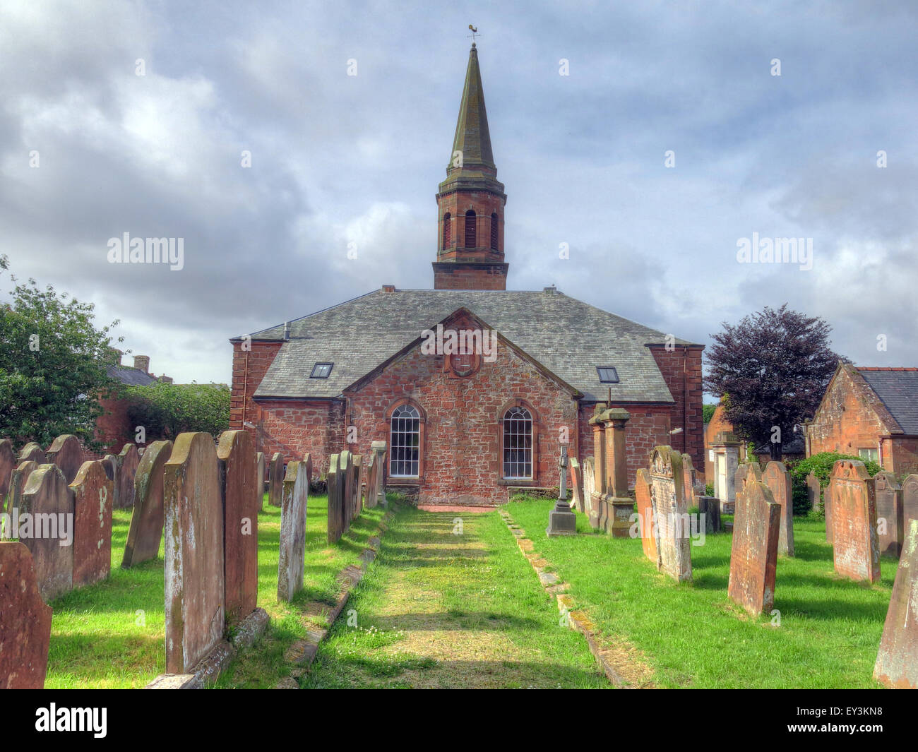 Annan Old Parish Church of Scotland - Stock Image
